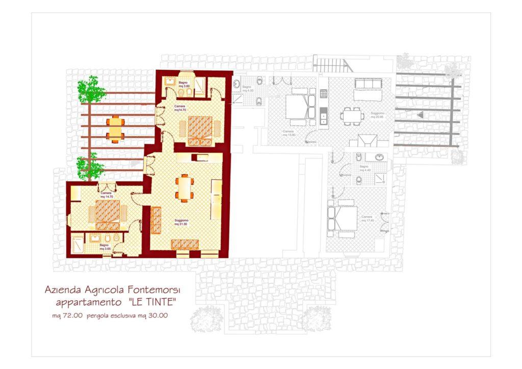 Appartament LE TINTE